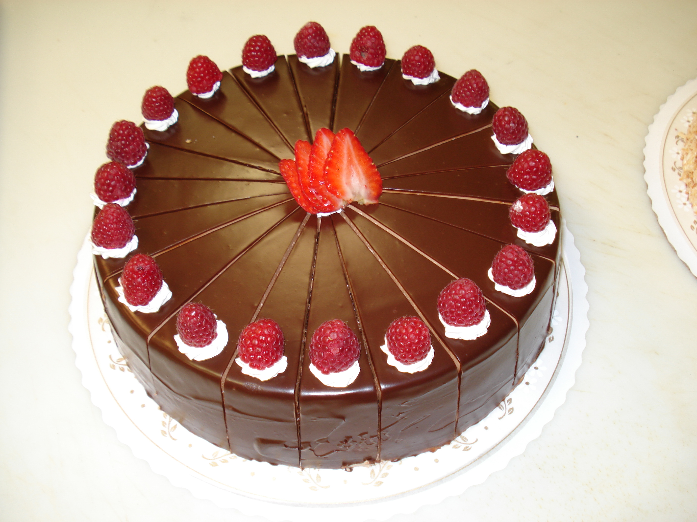 Raspberry and chocolate mousse cake recipe
