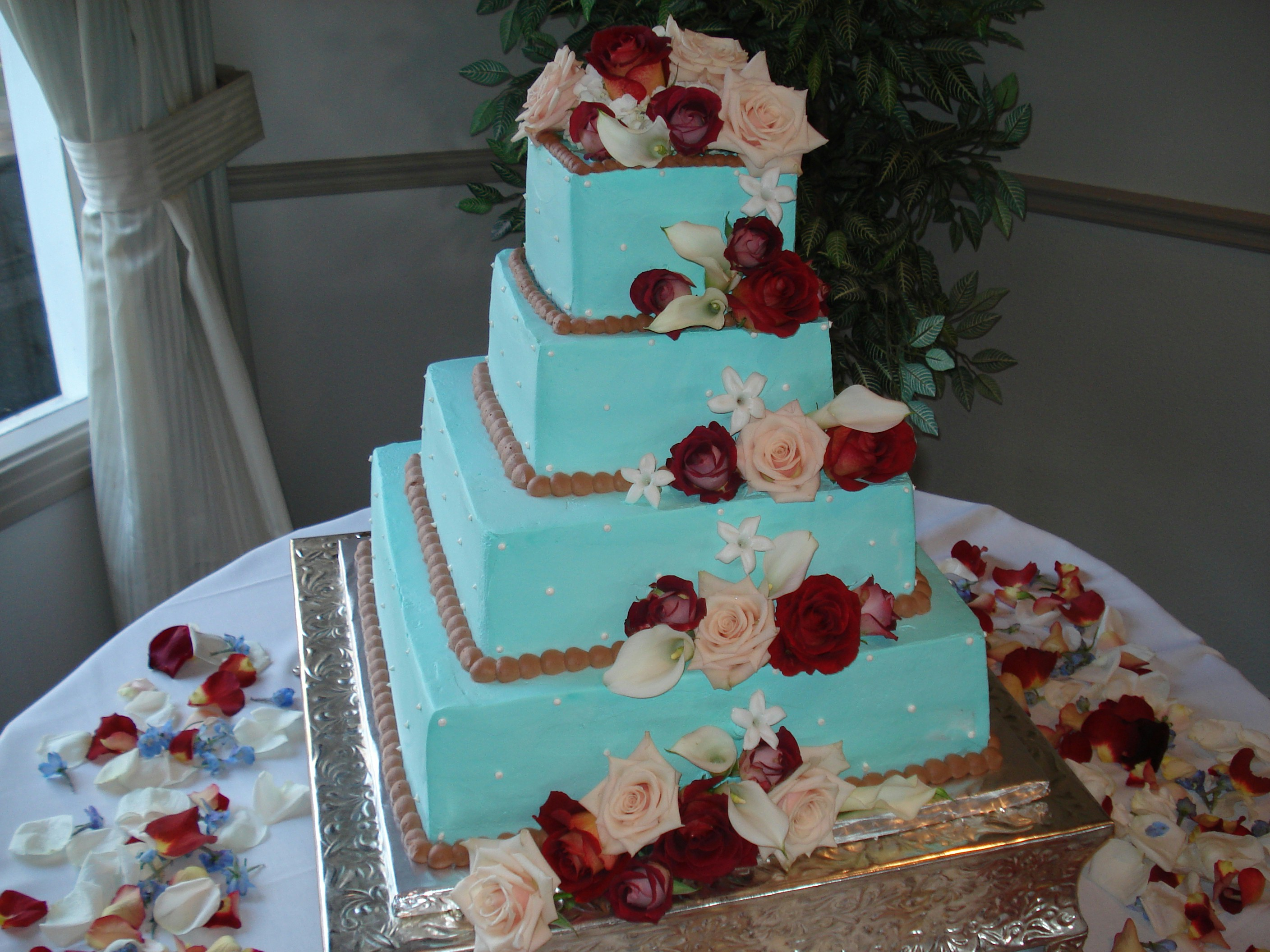 Wedding Cakes Turquoise And Red 5000 Simple Wedding Cakes